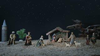 Nativity Scene And Star Of Bethlehem