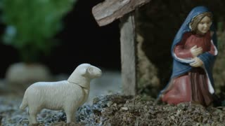 Nativity Scene - Holy Mother And Holy Child