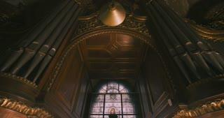 Old church organ pipes