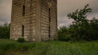 Old tower in ruins - MS