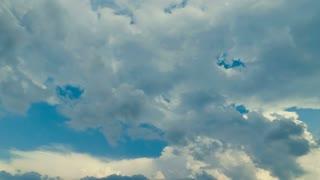 Rain clouds - pan shot