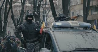Romanian military police parade 04