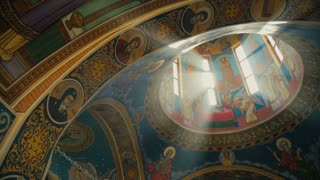 Romanian Orthodox Church - rays of Light