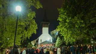 Romanian Traditional Church - Holy Saturday Night