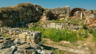 Ruins of the ancient Greek city of Histria - pan shot