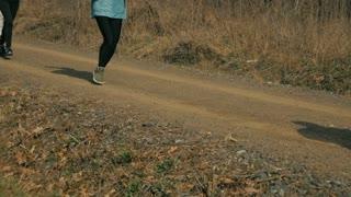 Running on road - slo mo
