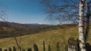 Transylvanian panorama with green pastures