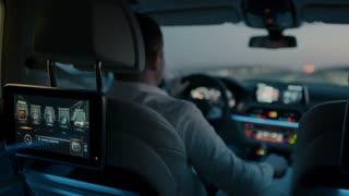 Trip in a luxury car - bokeh