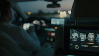 Trip in a luxury car - displays