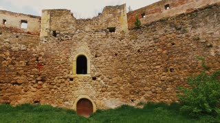 Walls of the medieval Citadel in Aiud city