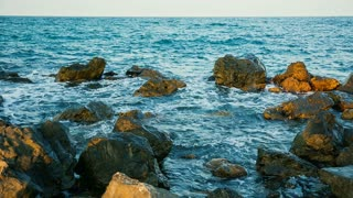Waves and rocks at the Black Sea