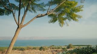 View of the Sea of Galilee (Kineret lake), Israel, cca. 2015.