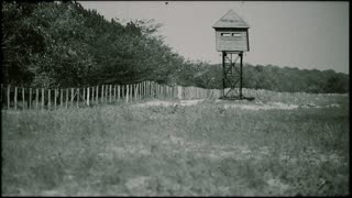 Watchtower at former concentration camp in Danube delta, Romania.