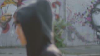Young man and graffiti 3