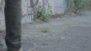 Young skater and graffiti 2