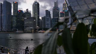 Central Business District across Marina Bay, Singapore, South Asia