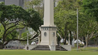 Dalhousie Obelisk and Central Business District, Boat Quay, Singapore, South Asia