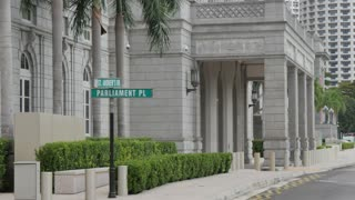 Former Supreme Court Building & sign, Singapore, South Asia