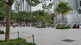 Fountains, Kuala Lumpur City Centre Park, Kuala Lumpur, Malaysia