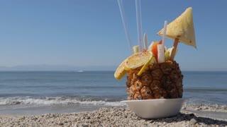 Mexican Fruit Drink on the Beach, Puerto Vallarta, Nayarit, Mexico, North America