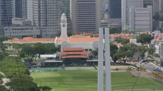 Padang Playing Field and Central Business District, Singapore, South Asia, Asia