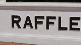 Raffles Hotel sign, Singapore, South Asia
