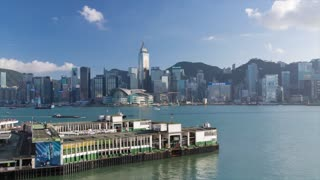 Star Ferry Terminal and Hong Kong Island skyline, Hong Kong, China