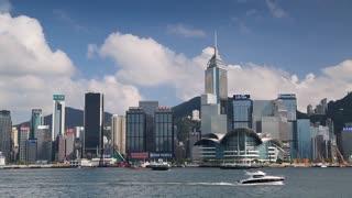 Victoria Harbour and Hong Kong Island skyline, Hong Kong, China