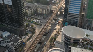 Busy intersection in the Business District, Bangkok, Thailand, South East Asia, Asia