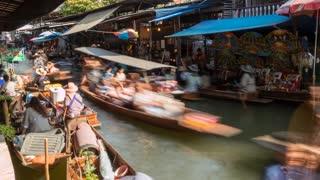 Damnoen Saduak Floatng Market Bangkok, Thailand, South East Asia, Asia