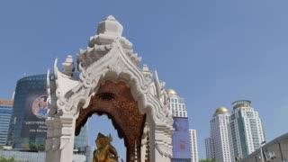 Shrine next to Central World, Ratchadamri Road, Bangkok, Thailand, Southeast Asia, Asia