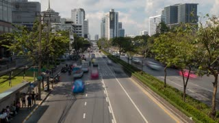 Traffic on Rama lV, Bangkok, Thailand, South East Asia, Asia