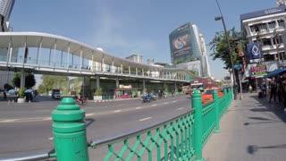 Walking on Ratchadamri Road, Bangkok, Thailand, Southeast Asia, Asia