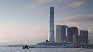 View of International Commerce Centre (ICC), Kowloon, Hong Kong, China