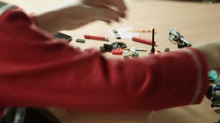 Boy builds toy piracy ship