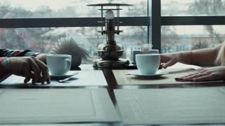Couple drink coffee