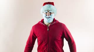 Crazy Santa wishes happy Christmas