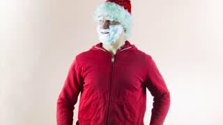 Ridiculous Santa Claus does selfie