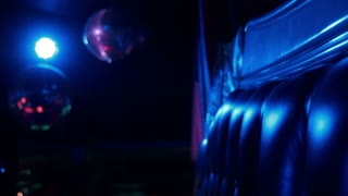 Sofa in a disco, light blinking