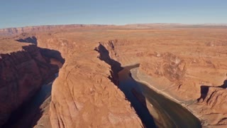 Aerial Arizona Grand Canyon Horseshoe Bend