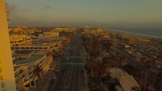 Aerial California Santa Monica LA September 2016 4K Aerial video of Santa Monica in LA California.