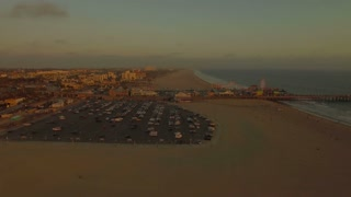 Aerial California Santa Monica LA September 2016 4K