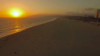 Aerial California Santa Monica LA September 2016 4K