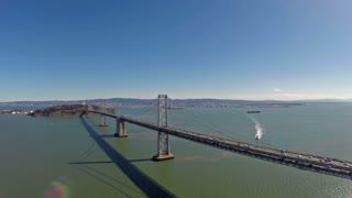 Aerial California SF Bay Bridge