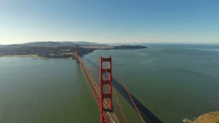 Aerial California SF Golden Gate