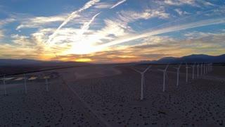 Aerial California Windmills