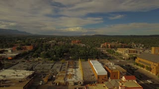 Aerial Colorado Colorado Springs September 2016 4K