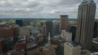 Aerial Indiana Indianapolis September 2016 4K