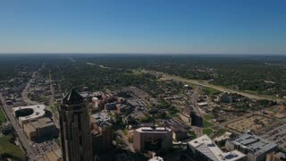 Aerial Iowa Des Moines September 2016 4K