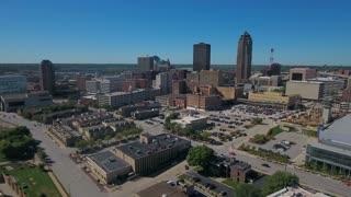 Aerial Iowa Des Moines September 2016 4K